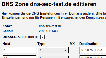 DNSSEC im CCP beta