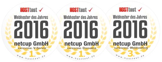HOSTtest Testsieger 2016