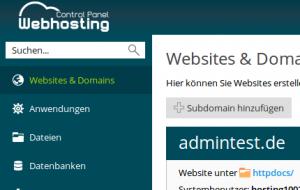 netcup Webhostingpanel