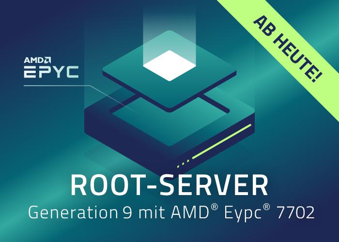 netcup launcht neue Root-Server Generation 9 auf AMD EPYC™ der 7002-Serie