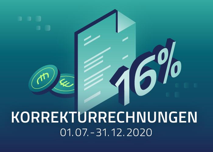 Korrekturrechnungen für den Leistungszeitraum 01.07.-31.12.2020